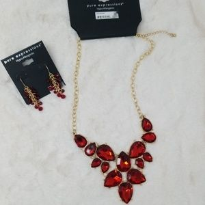 Pure Expressions Necklace and Earring Set